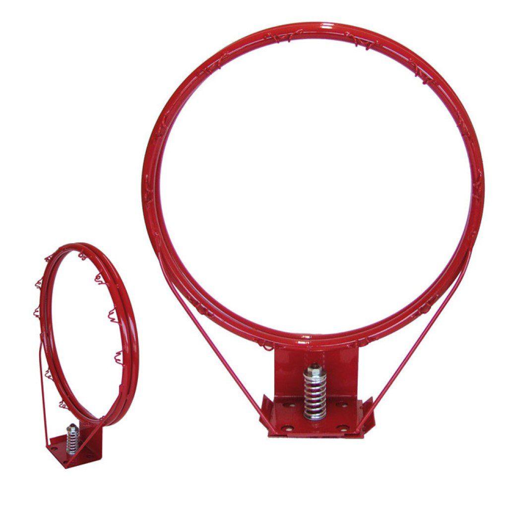 Folding basketball ring