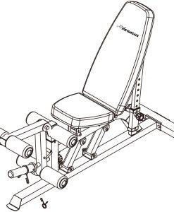 Полупрофесионална регулируема пейка Pegasus 3100i