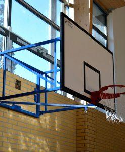 Конзолна баскетболна конструкция за зала, изнасяне до 180 см, монтаж на стена