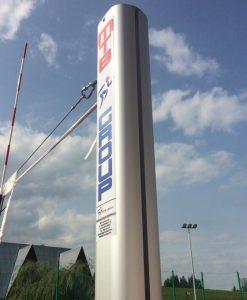 Волейболни стълбове, алуминиев профил 120х100 мм