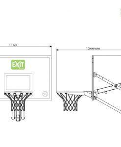 Регулируемо баскетболно табло за стена EXIT Galaxy