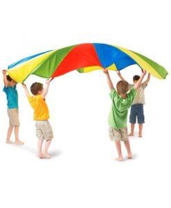 Разноцветен парашут за игра