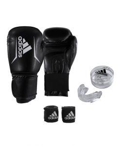 Комплект ръкавици, ластични бинтове и предпазител Adidas