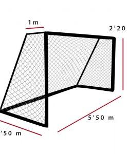 Мрежа за футбол 3 мм РР 5х2 м