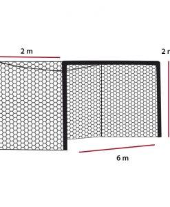 Мрежа за футболна врата A7 5 мм РР дълбока