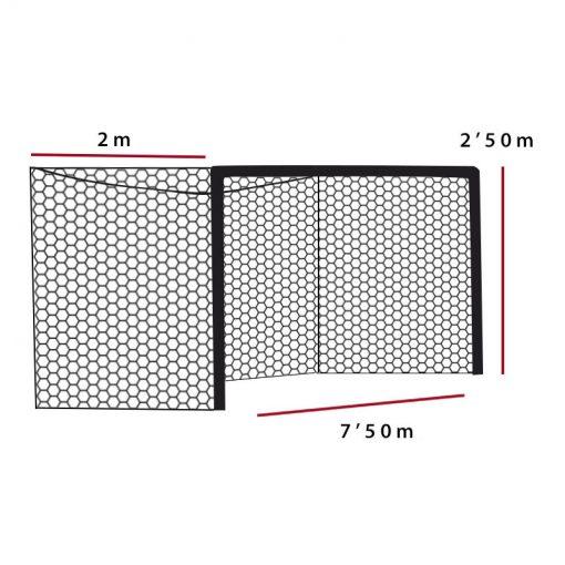 Мрежа за футболна врата A11 3 мм РР дълбока