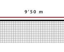 Мрежа за волейбол 4 мм  PP за състезания