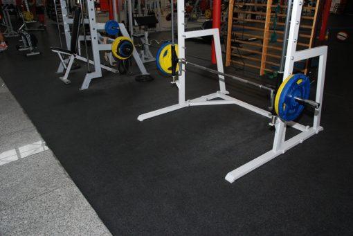 Каучукова плоча за фитнес зала тип пъзел